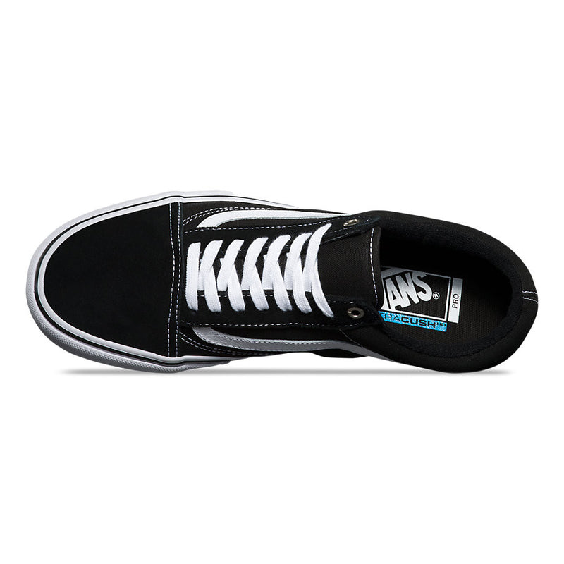 Vans Old Skool Pro Black White VN000ZD4Y28 Vans The Old Skool Pro, a Vans classic upgraded for enhanced performance, features suede, canvas, and leather uppers, single-wrap foxing tape, Ultra Cush™ HD sock liners to keep the foot close to the board while providing the highest level of impact cushioning, and Vans original Famous Rock Shop Newcastle NSW Australia