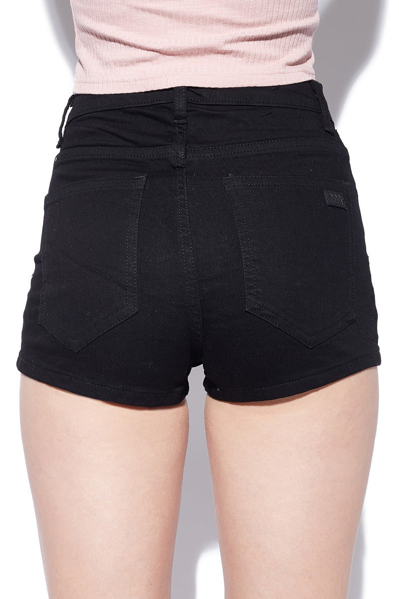Ziggy Rib Warmer Shorts Black Chop ZW-885