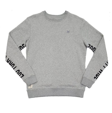 Zoo York Incline Fleece Crew Grey Heat