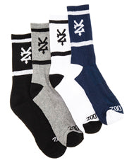 Zoo York Stacks Sock Colour Asst 4 Pack ZY-MZD7133 Zoo York Asst Stacks Sock 4 Pack Famous Rock Shop Newcastle 2300 NSW Australia