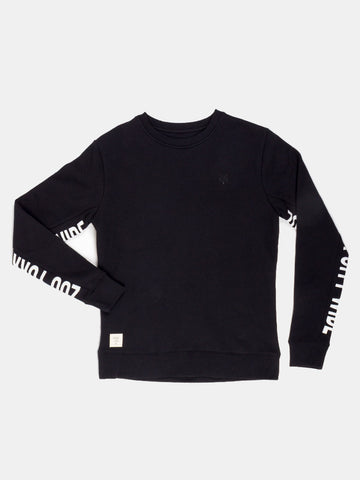 Zoo York Incline Fleece Crew Jet Black