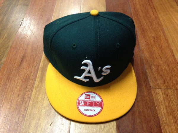 New Era 9Fifty A's Snapback Green Yellow