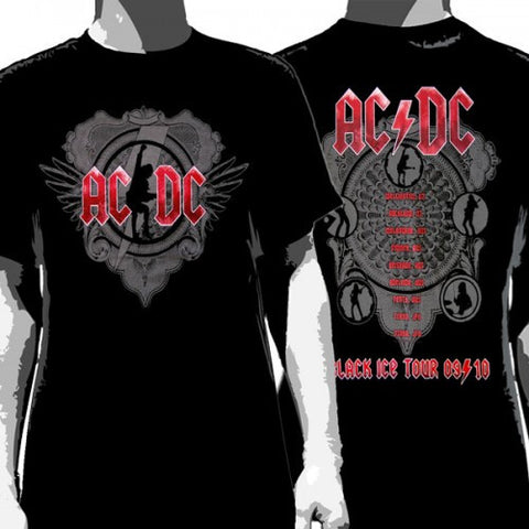 ACDC T-Shirt Black Ice Tour Men's