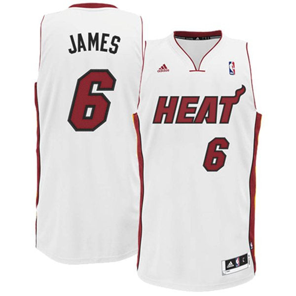 timeless design eaa69 6c78d Adidas NBA Jersey Heat JAMES #6 White