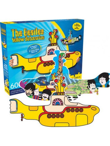 "The Beatles Yellow Submarine Double Sided Jigsaw Puzzle (28""x15.75"")"