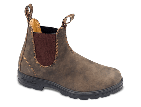 Blundstone Pu lined Elastic Sided 585 Rustic Brown Famous Rock Shop Newcastle 2300 NSW Australia