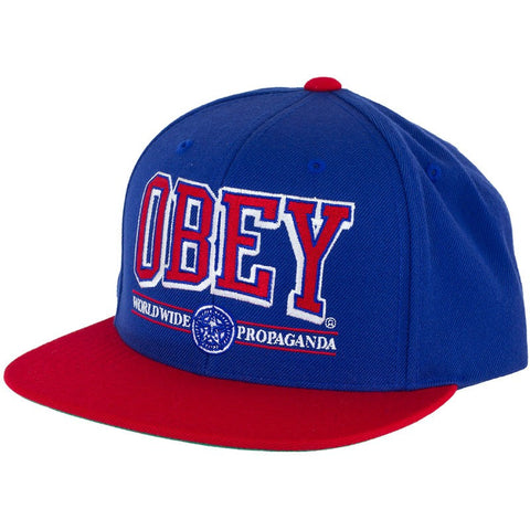 Obey Athletics Blue Red