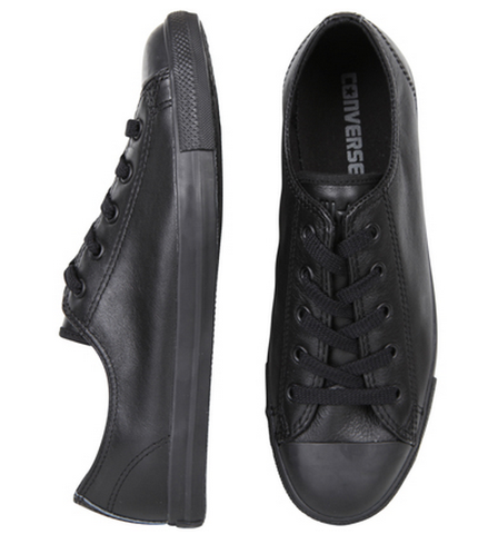 Converse Dainty Black Mono Leather Ox