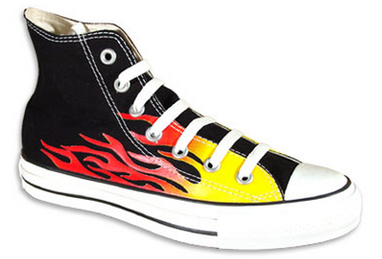Converse Hi Flame Red Vintage Famous Rock Shop Newcastle NSW Australia
