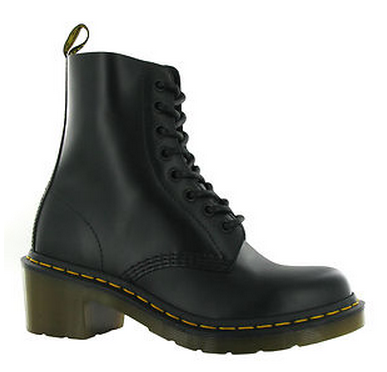 Dr Martens Clemency Black Leather Heel Boot