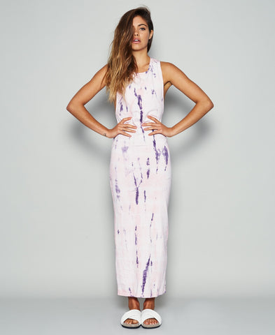 Dream Monstar Vacation Maxi Dress Rose Tie Dye