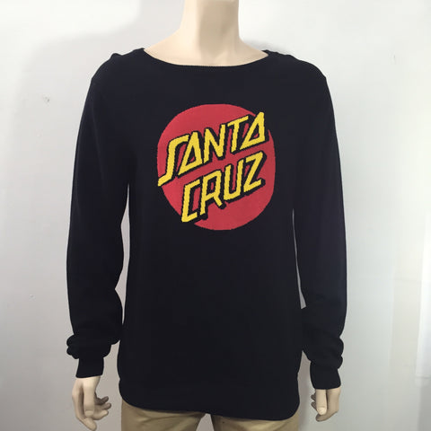 Santa Cruz Big Dot Knit Black