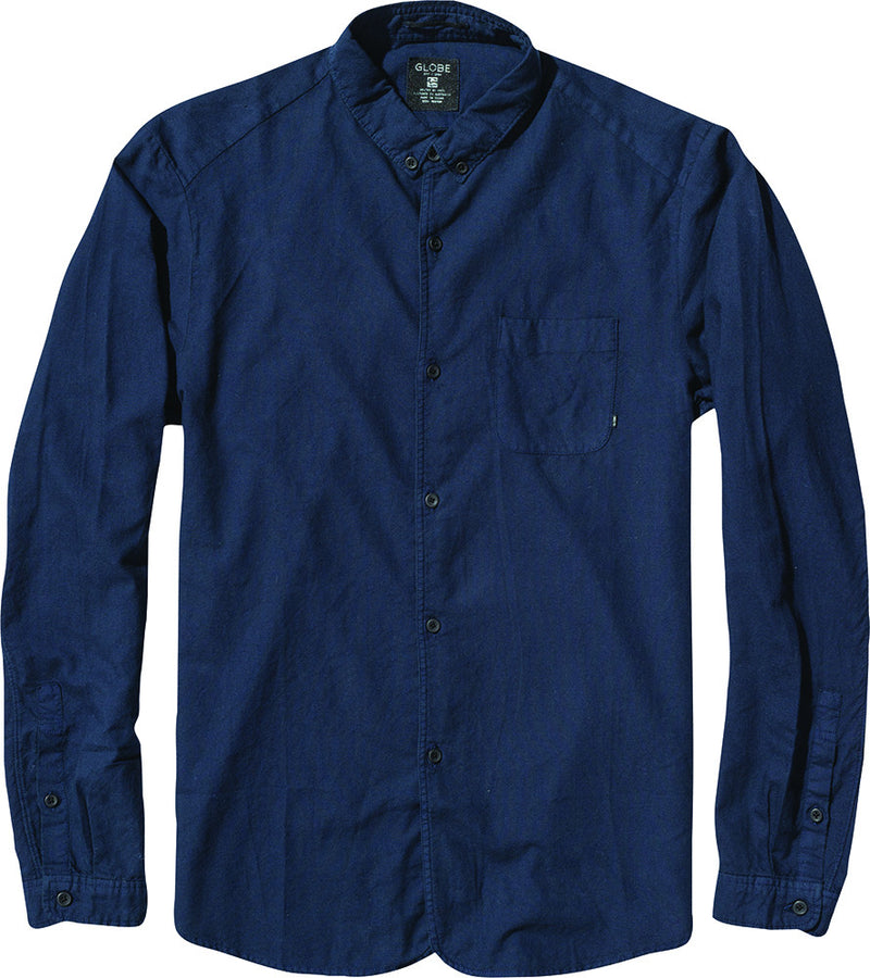 Globe Goodstock Oxford Shirt Indigo Famous Rock Shop Newcastle 2300 NSW Australia