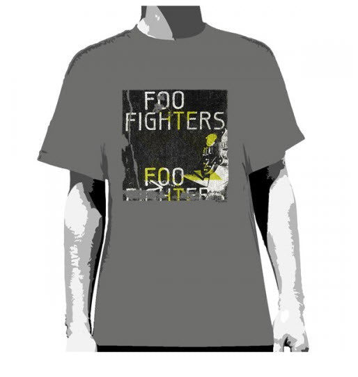 Foo Fighters Guitar Grey T-Shirt Men's Famous Rock Shop Newcastle 2300 NSW Australia