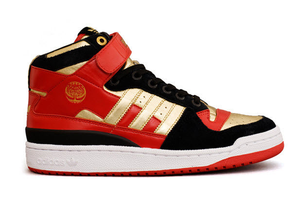 Adidas Originals Limited Edition Hellboy 2 Forum Mid Shoe  Black Metallic Gold Red Famous Rock Shop Newcastle 2300 NSW Australia