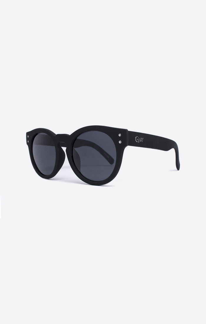 "Quay Australia High Emotion Black Smoke Lens Polycarbonate Frame Polycarbonate Lens Stainless Steel Hinges Cat.3 Lens 100% UV protection Width: 15cm - 5.9"" Height: 5.6cm - 2.20"" Nose Gap: 1.1cm - 0.43"" Hot Property Newcastle 2300 NSW Australia"