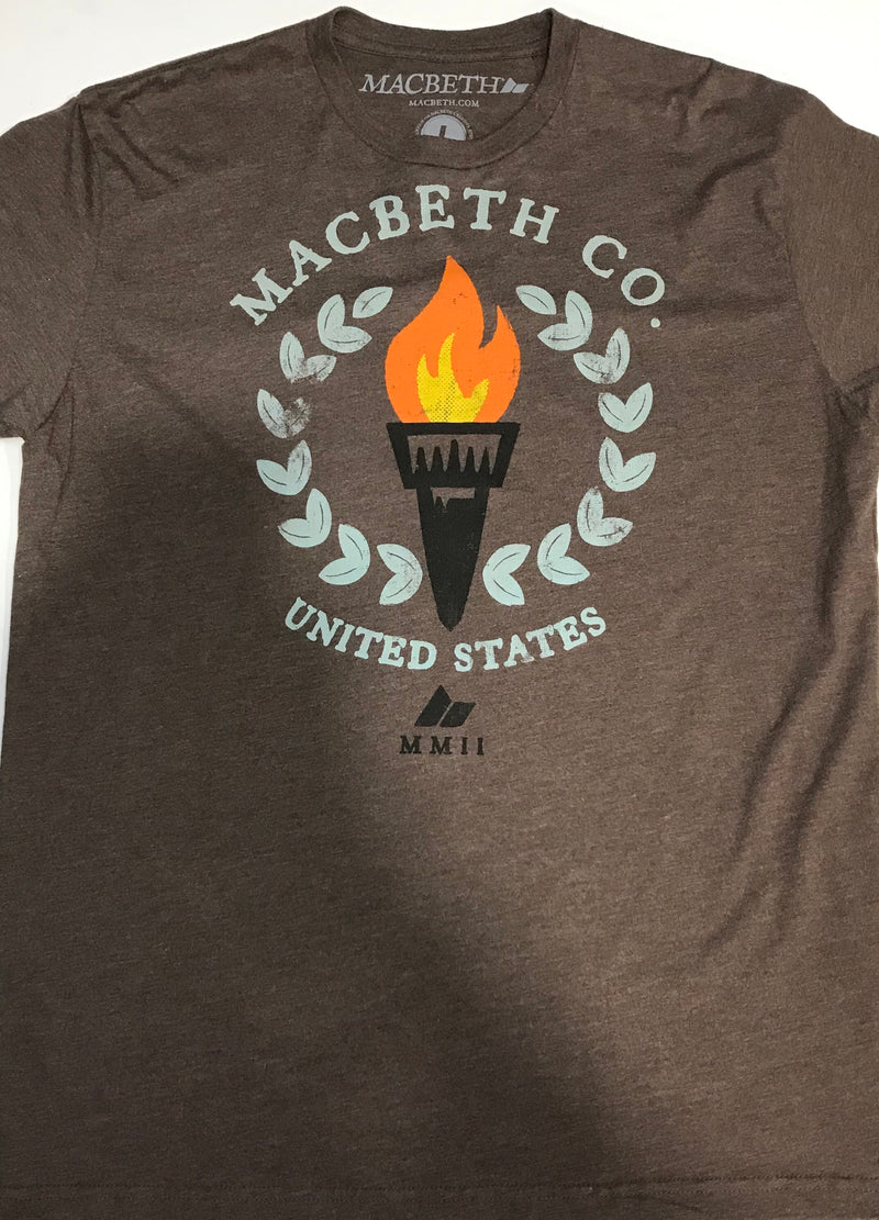 Macbeth Co United States Torch Brown Men's Tee