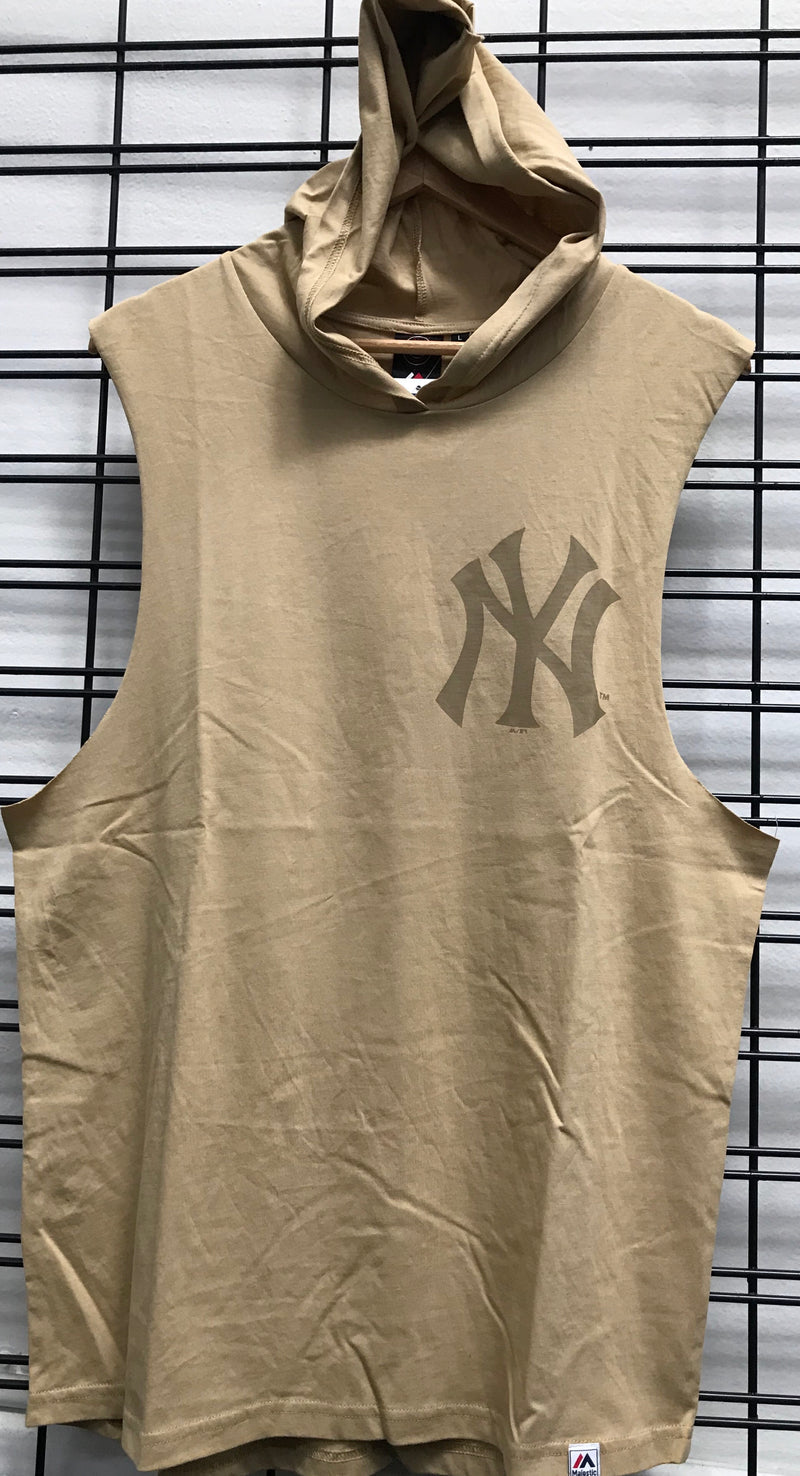Majestic Athletic NY Yankees Vincennes Muscle Hood Woodland Tan MOR6566KJ Famous Rock Shop Newcastle 2300 NSW Australia
