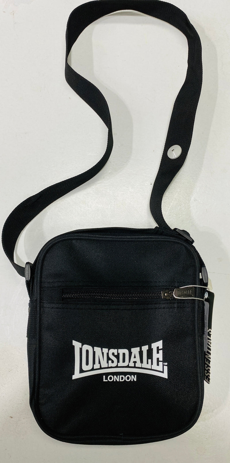 Lonsdale London Sterling Satchel Bag Black White LBE708