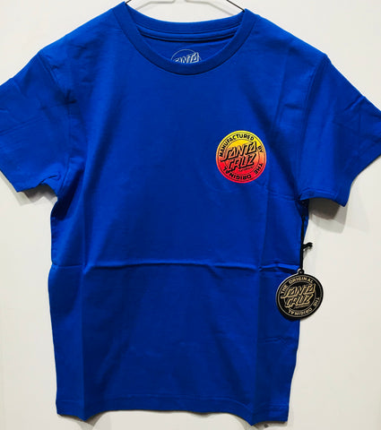 Santa Cruz Original Fade Dot Tee Youth Blue