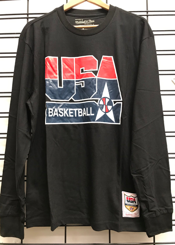Majestic Atheltic  92 USA Dream Team Basketball LS Tee black 6173USA92 Famous Rock Shop Newcastle 2300 NSW Australia