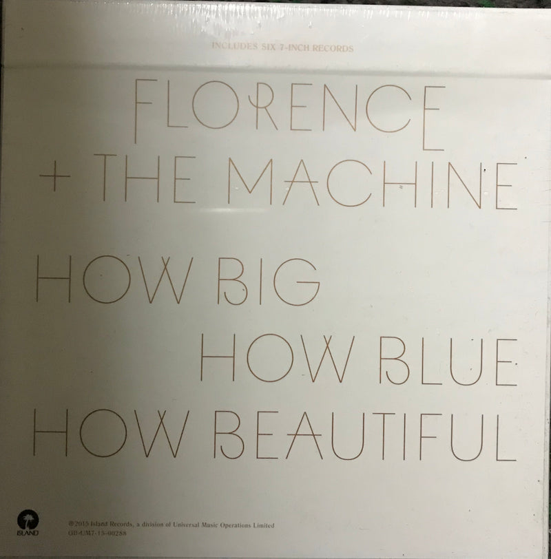 Florence & The Machine How Big How Blue How Beautiful Box Set Six 7 Inch Records Famous Rock Shop Newcastle 2300 NSW Australia