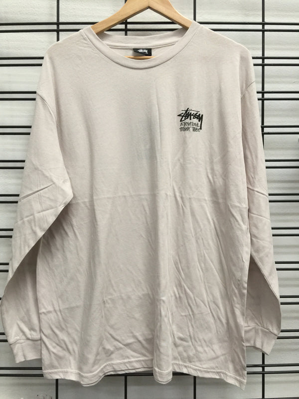 Stussy Women's International Tribe LS Tee Warm Sand