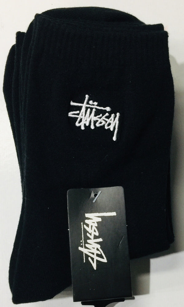 Stussy Women's Graffiti Crew Socks 3pk Black