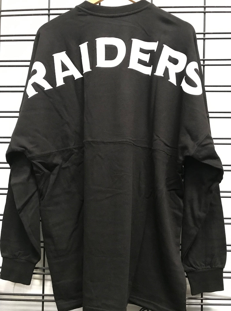 Majestic Athletic Oakland Raiders Rando LS Tee Black MOR6700DB Famous Rock Shop Newcastle 2300 NSW Australia