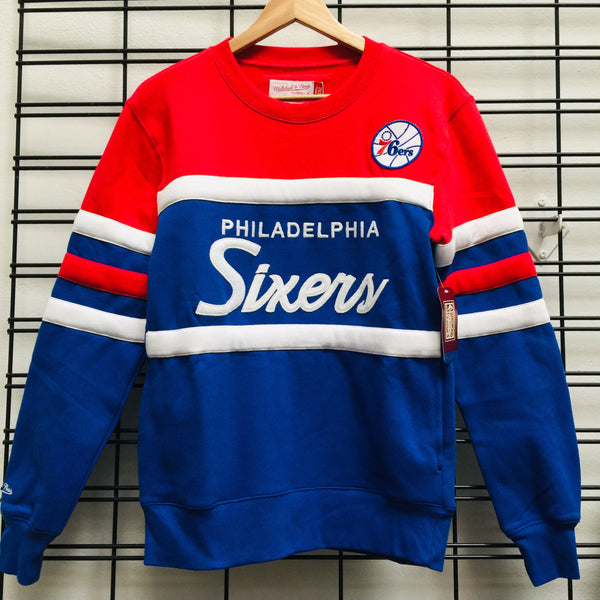 Majestic Atheltic Philadelphia 76 ERS Head Coach Crew Jumper