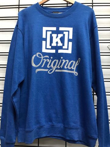 KR3W Original 4 Crew Fleece Men's Blue Jumper
