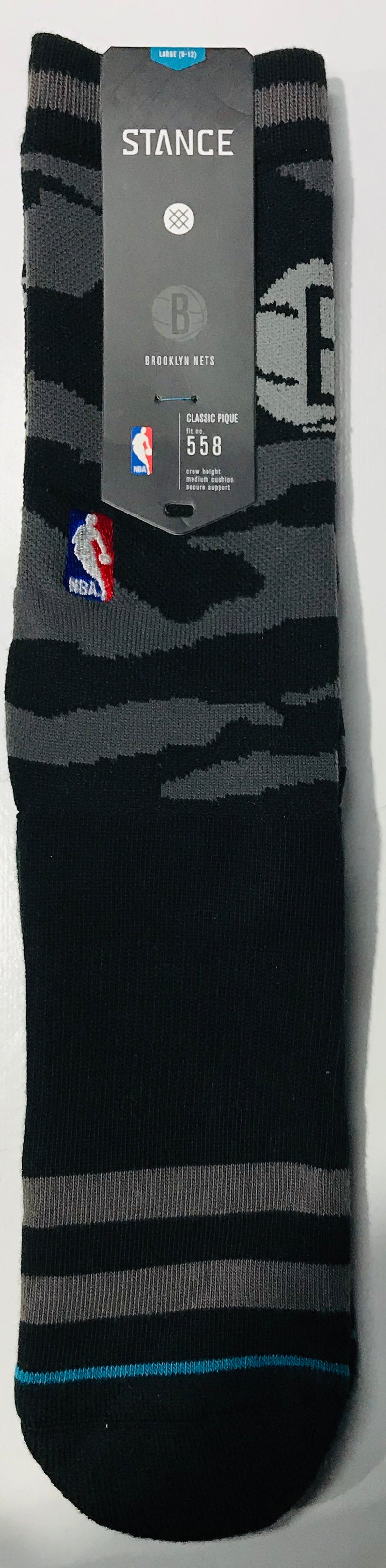 Stance Nightfall Brooklyn Nets Black Crew Socks