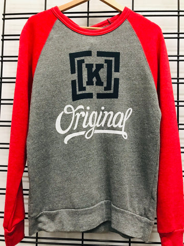 KR3W Original 4 Tri Bland C Men's Grey and Red Jumper