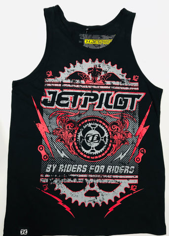 Jetpilot Front Crank Men's Tank Black S1307 Famous Rock Shop Newcastle 2300 NSW Australia