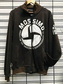 Mossimo 1986 Dept. Zip. Thru. Men's Jumper Brown 0M960J AAE Famous Rock Shop Newcastle 2300 NSW Australia