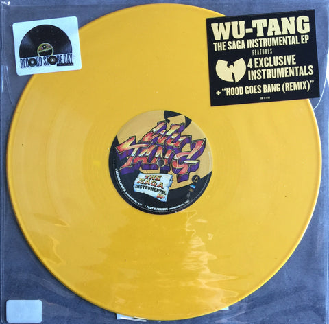 Wu-Tang The Saga Instrumental ep Yellow Vinyl Record Store Day LTD 2018