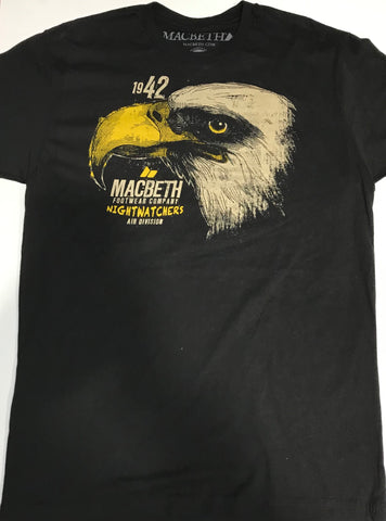 Macbeth Nightwatchers Eagle Black and Yellow Men's Tee