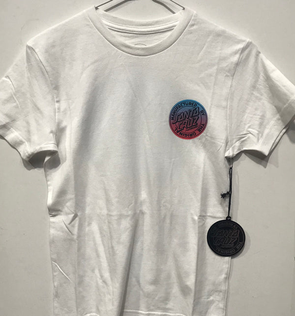 Santa Cruz Original Fade Dot Tee Youth White SC-YTD8123