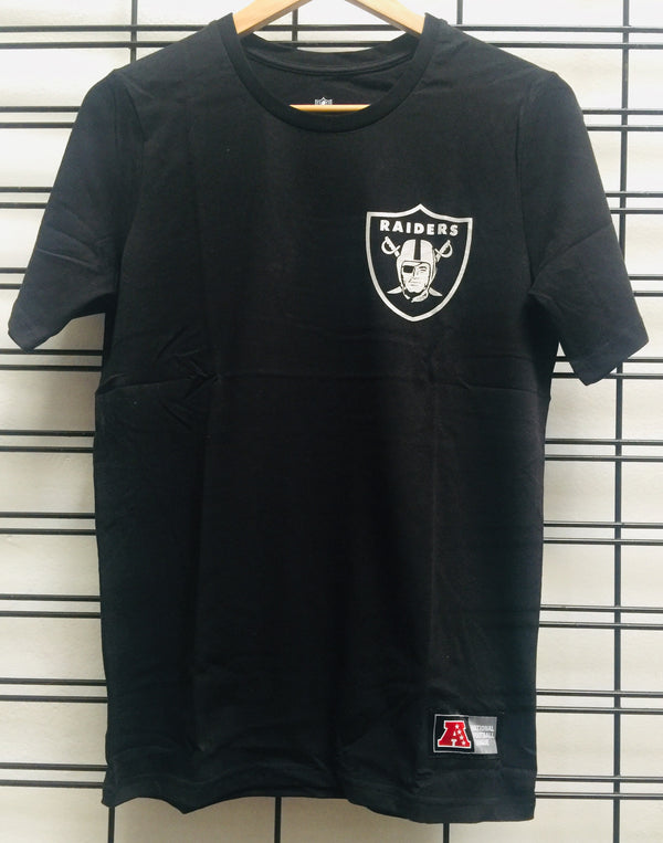 Majestic Athletic NFL Oakland Raiders Chesney Kids Tee Black Silver 7K1B7FB6S