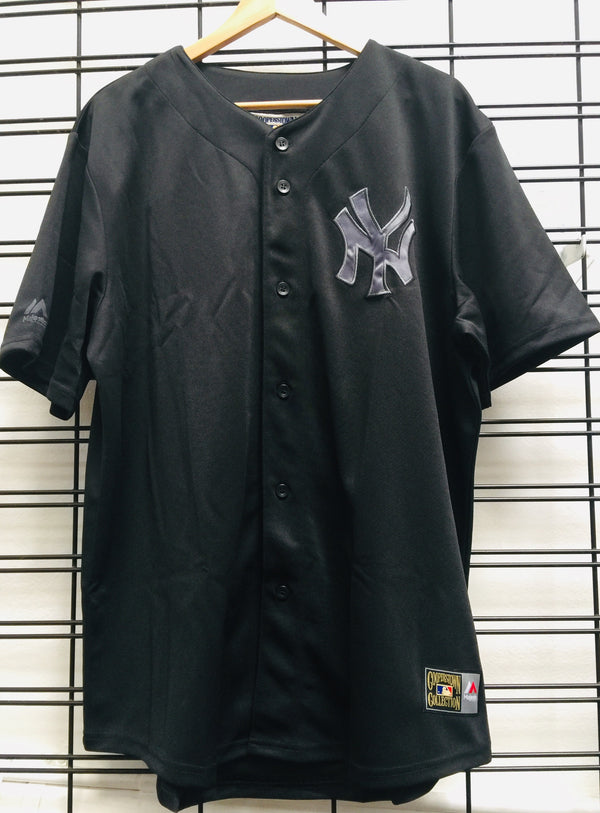 Majestic Atheltic NY YANKEES Mono BASEBALL JERSEY Black MNY5148DB Famous Rock Shop Newcastle 2300 NSW Australia