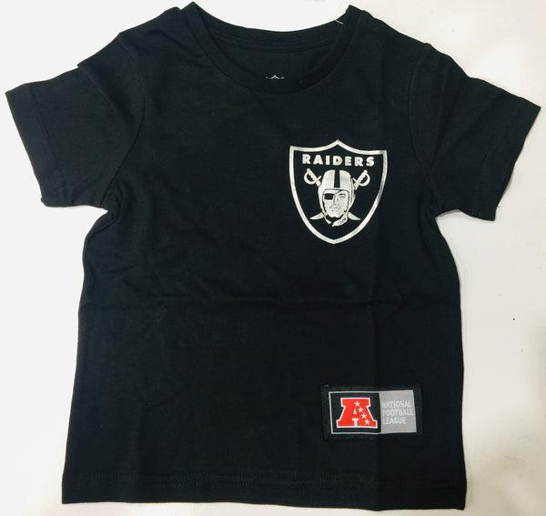 Majestic Athletic MLB Oakland Raiders Chesney Toddlers Tee Black Silver 7K1T1FB6S