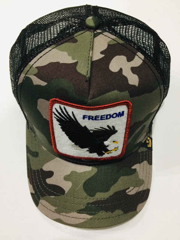 Goorin Bros Freedom Camo Grey 1SFM Trucker Caps