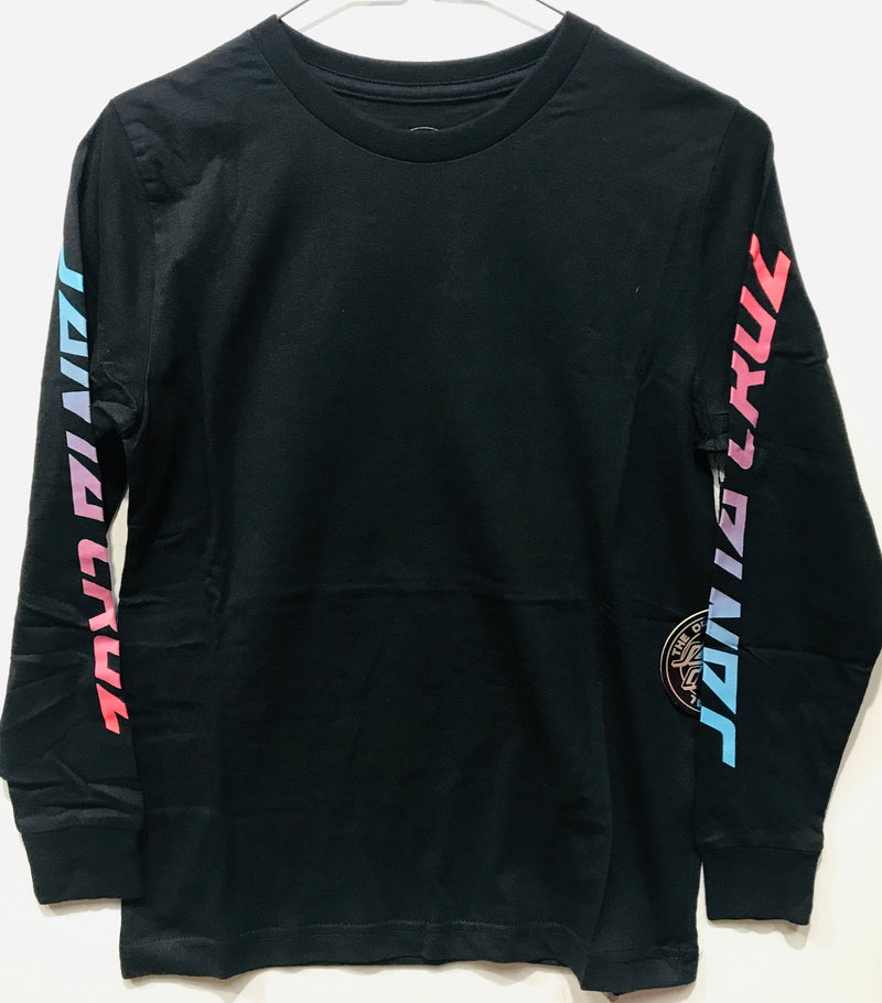 Santa Cruz Youth The Original Fade Dot Long Sleeve Tee Black SC-YLD8135