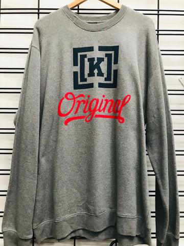 KR3W Original 4 Crew Fleece Men's Grey Jumper