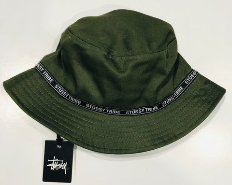 Stussy LA Tribe Bucket Hat Flight Green ST795026