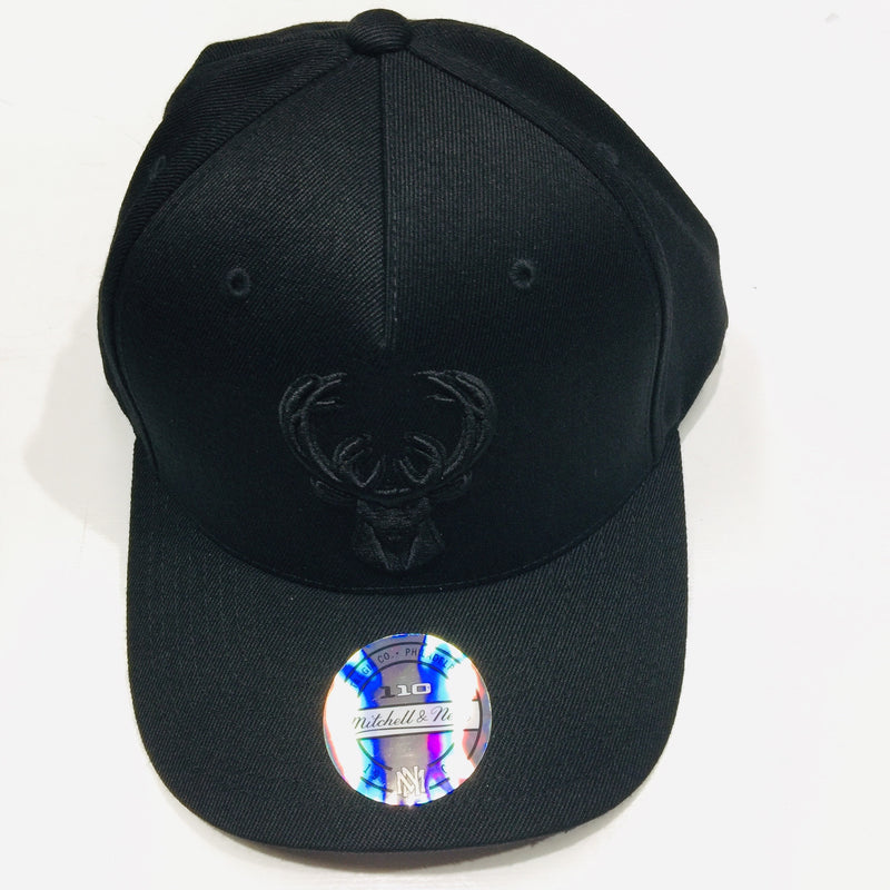 Mitchell & Ness Milwaukee Bucks All Black Logo 110 Snapback CKO73 Famous Rock Shop Newcastle 2300 NSW Australia