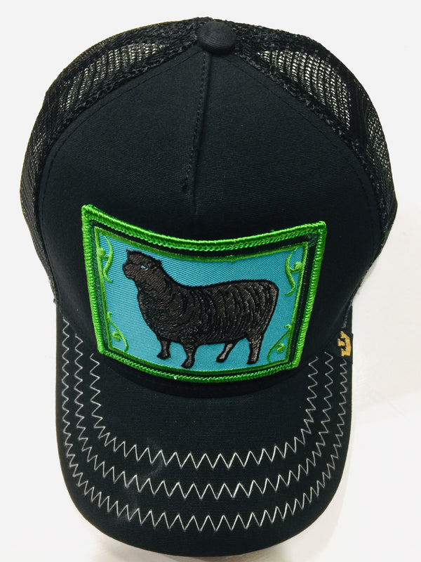 Goorin Bros Black Sheep Black 1SFM Trucker Caps
