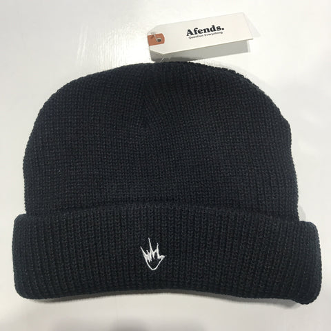 Afends Flame Wharfie Black Beanie One Size