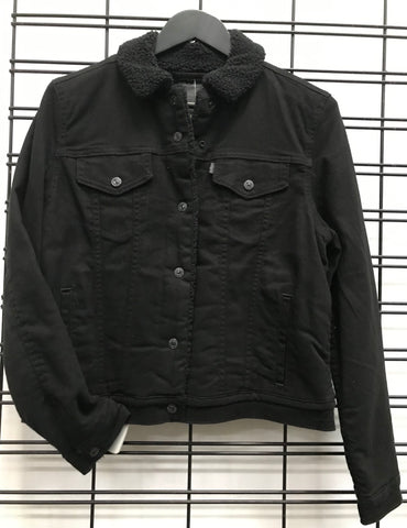Levi's Sherpa Trucker Jacket Black Famous Rock Shop Newcastle 2300 NSW Australia