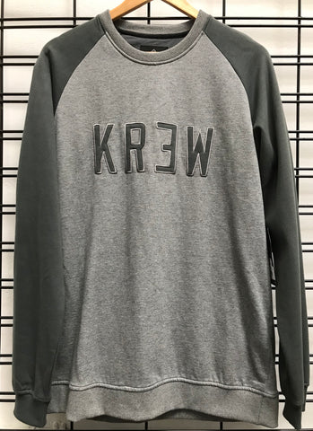 KR3W Minority Crew Men's Charcoal Fleece Jumper
